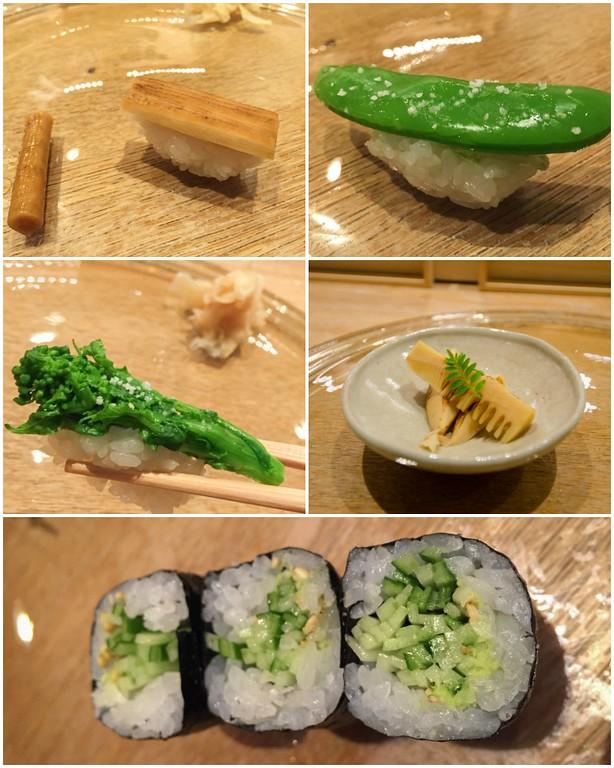 Omakase Sushi for Vegetarians at Andaz Tokyo