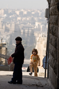 Aleppo, Syria - January, 2008: Children on their way to school in center of Aleppo. (Photo by Christopher Herwig)