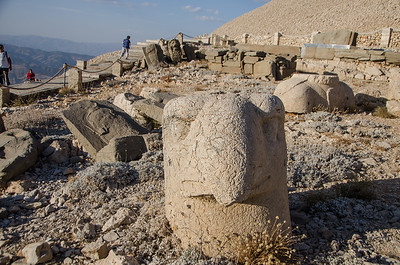 The ruins at Mount Nemrut...