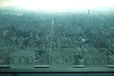 101010 from Taipei 101 in Taiwan