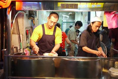 Street food from a the Shilin Night Market in in Taipei, Taiwan