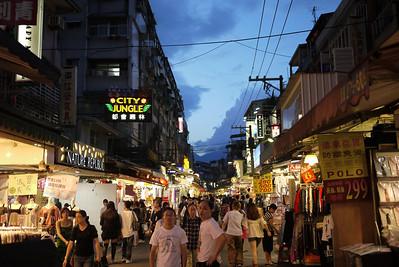 Shilin Night Market in in Taipei, Taiwan