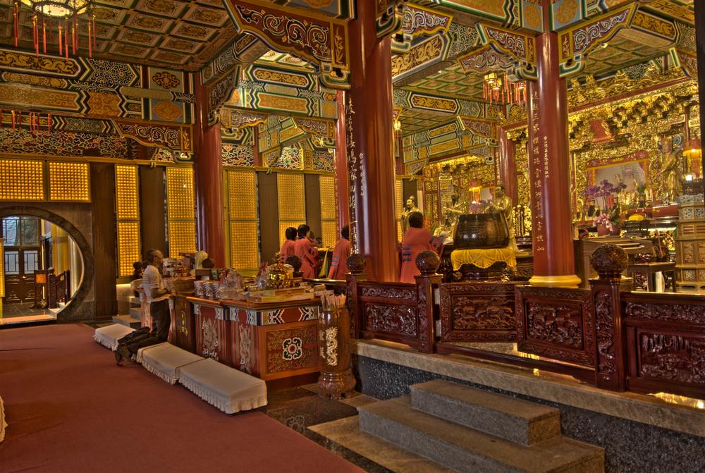 Inside the Zhinan Confucian Temple, Taipei, Taiwan