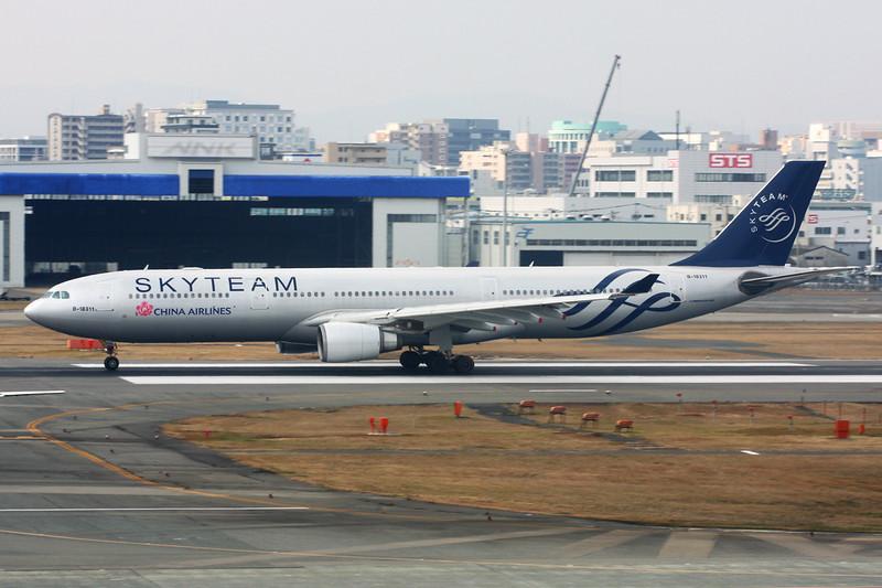 """B-18311 Airbus A330-302 c/n 752 Fukuoka/RJFF/FUK 11-01-14 """"Skyteam"""""""