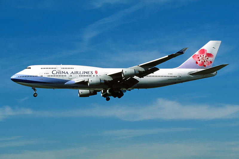 B-18251 Boeing 747-409 c/n 27965 Los Angeles/KLAX/LAX 08-03-04 (35mm slide)
