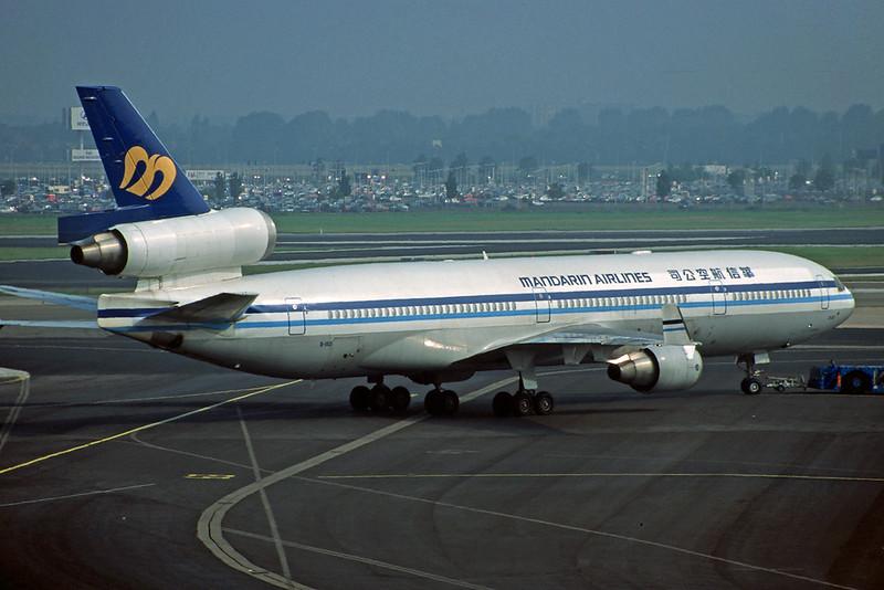 "B-150 McDonnell-Douglas MD-11 ""Mandarin Airlines"" c/n 48468 Amsterdam/EHAM/AMS 17-08-96 (35mm slide)"