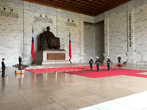 Changing of the Guard at Chiang Kai Shek Memorial Hall