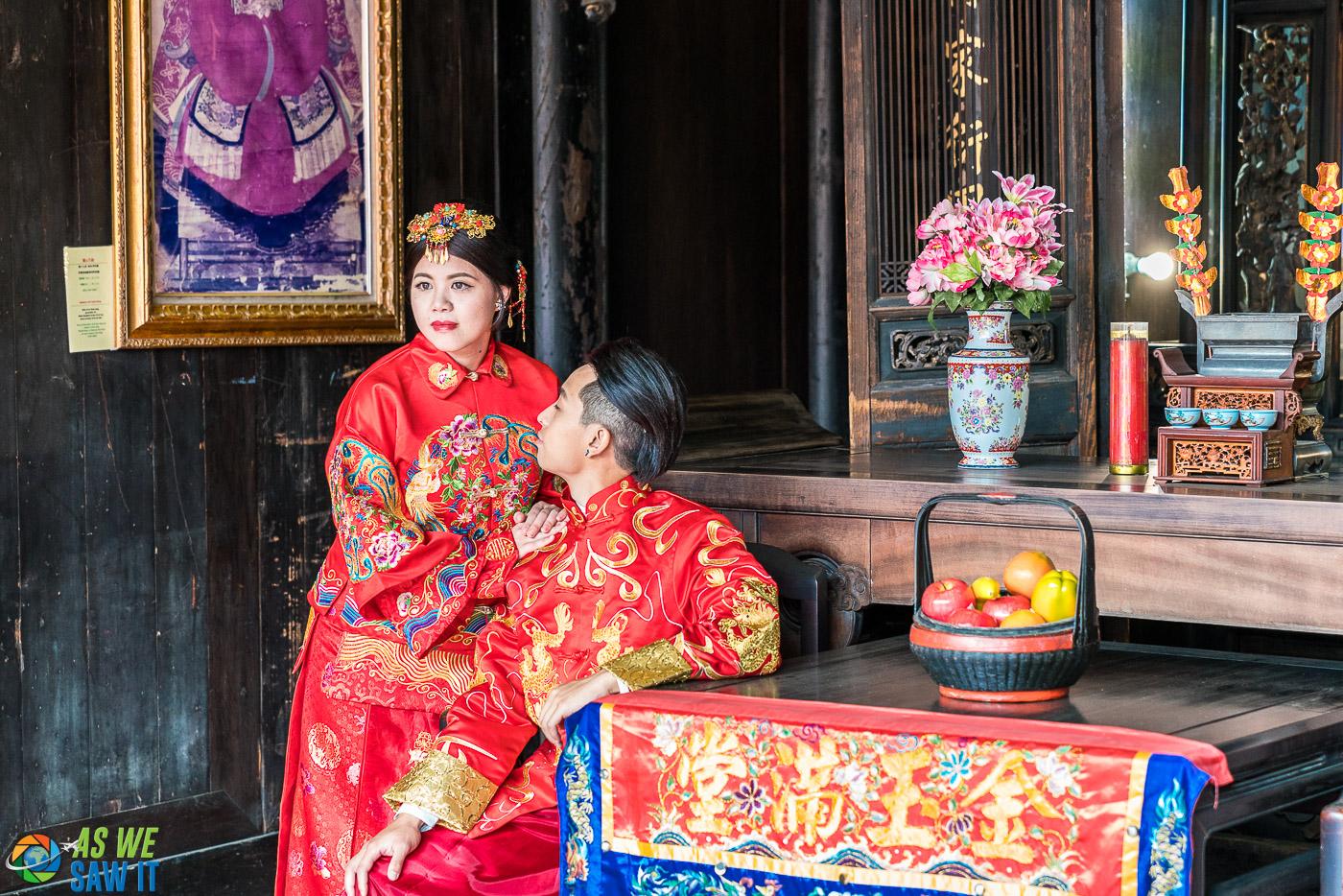 Wedding photos at Lin An Tai House