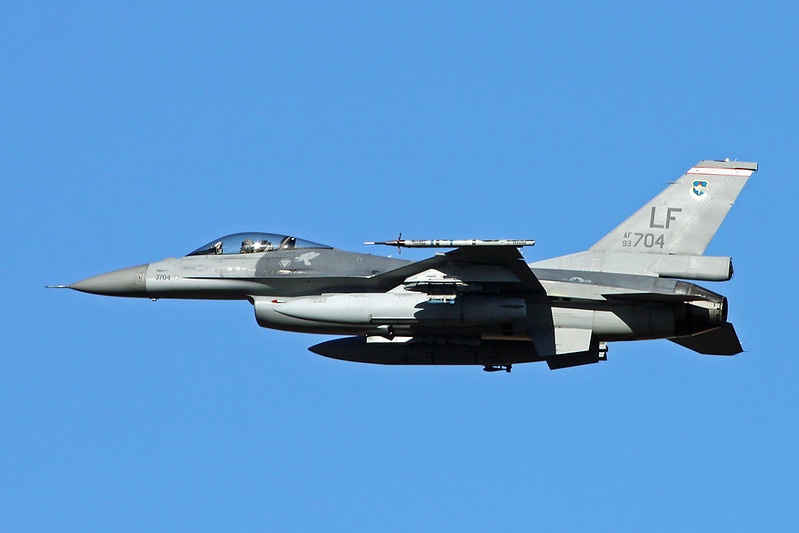 "93-0704 (LF) General Dynamics F-16A Fighting Falcon ""Republic of China Air Force"" c/n TA-3 Luke/KLUF/LUF 17-11-16"