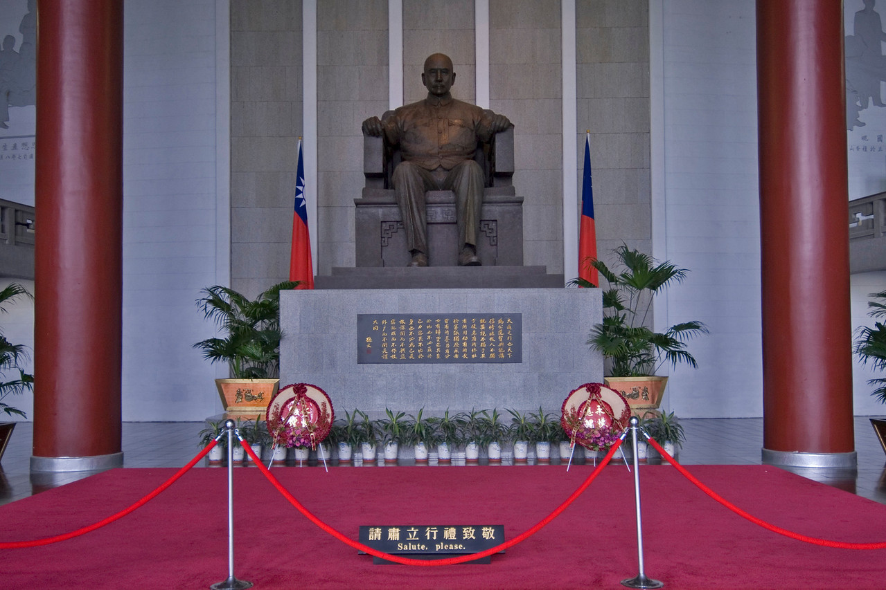 Sun Yat Sen Statue in Taipei, Taiwan