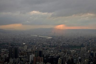 Stormy clouds above the Taipei skyline - Taipei, Taiwan