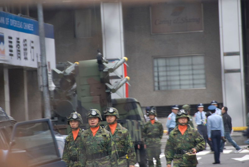 Soldiers and Missiles during National Day Celebration - Taipei, Taiwan