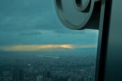 Overlooking view of the skyline from the Observation Deck - Taipei, Taiwan
