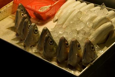 Fish heads sold at night market - Taipei, Taiwan