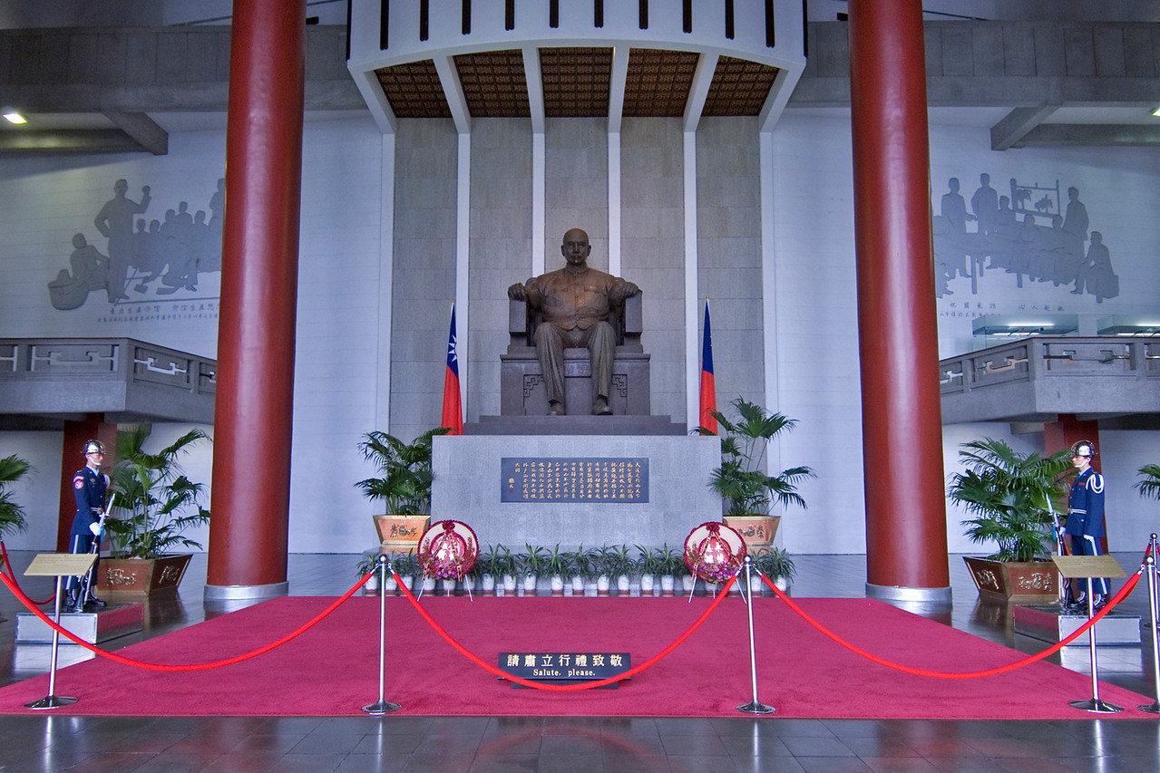 Front view of the Sun Yat Sen Statue - Taipei, Taiwan