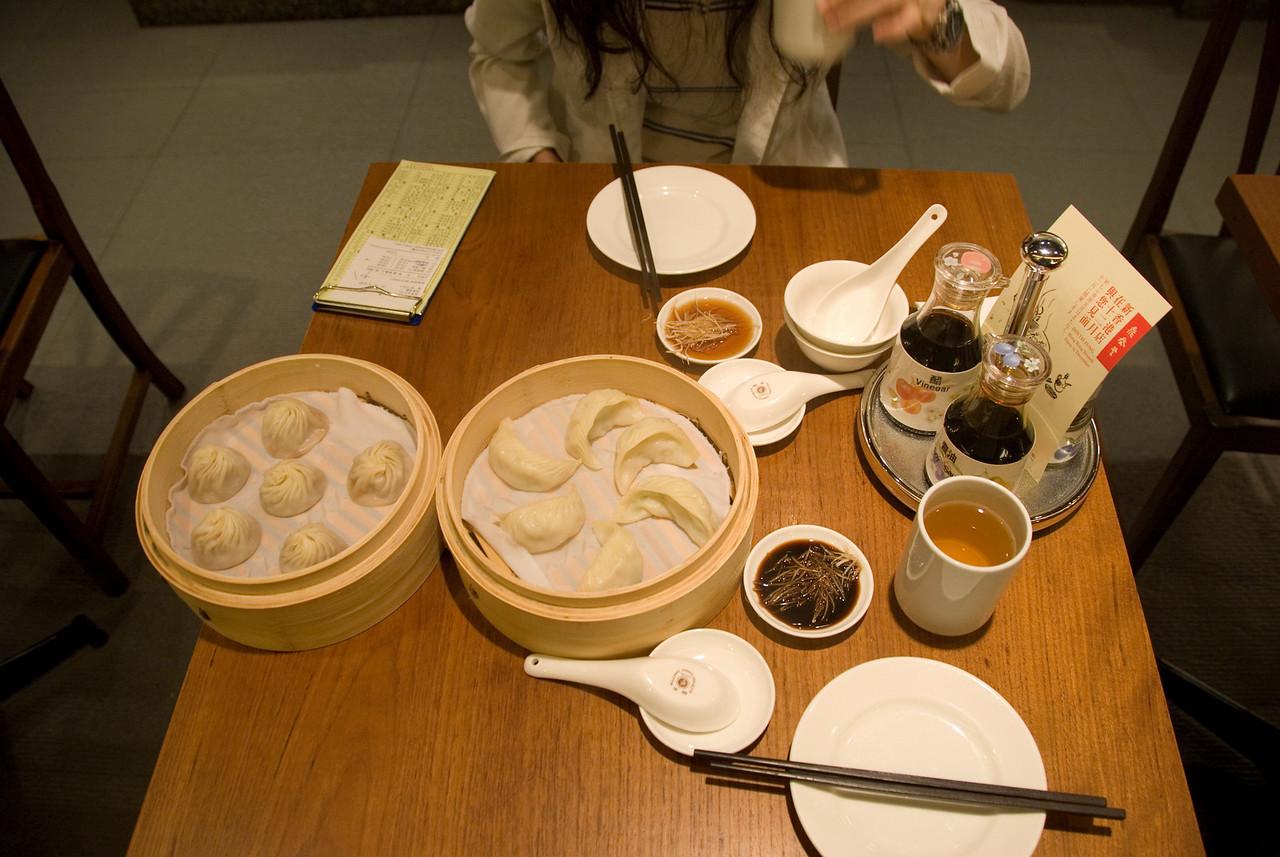 Steamed Dumplings for Lunch in Taipei, Taiwan
