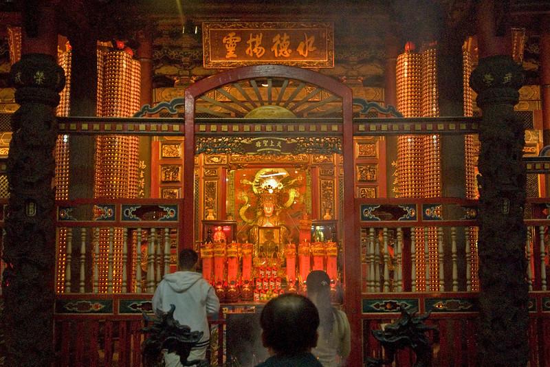 The main altar inside Longshan Temple - Taipei, Taiwan