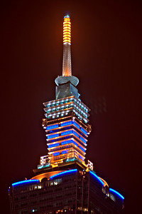 Enhanced photo of the spire over the Taipei skyline - Taipei, Taiwan