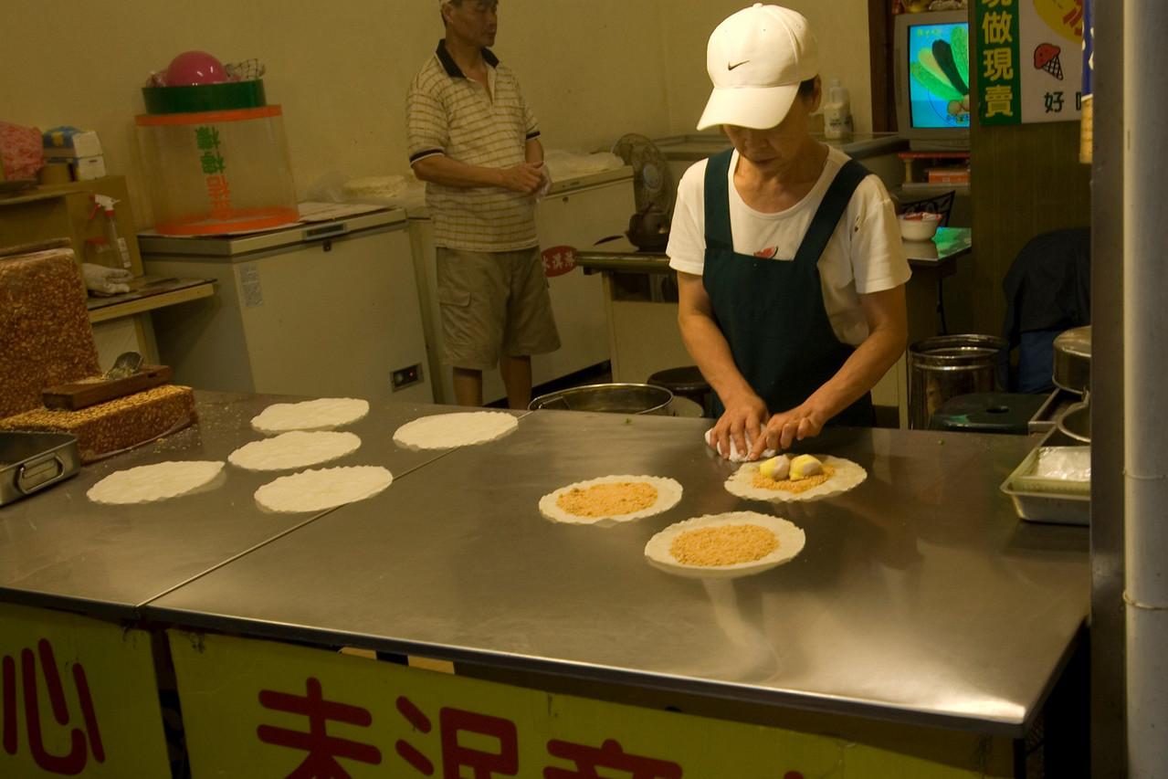 Ice cream pie vendor in Taipei, Taiwan