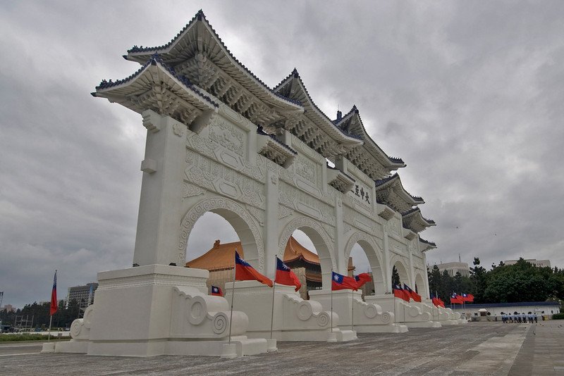 Corner shot of the Chiang Kai-shek Memorial Hall- Taipei, Taiwan