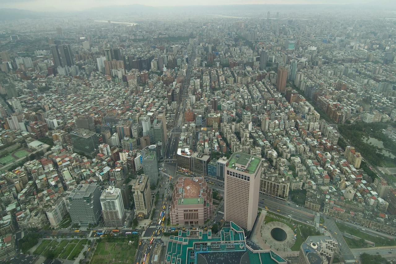 Looking down the Taipei skyline from Tower - Taipei, Taiwan