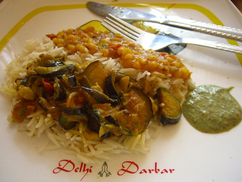 Indian Dal and Eggplant - Dushanbe, Tajikistan