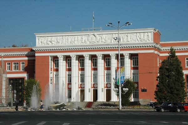 Downtown Dushanbe, Tajikistan
