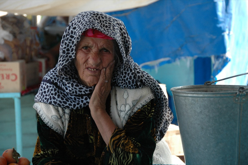 Elderly Woman Vendor - Dushanbe, Tajikistan