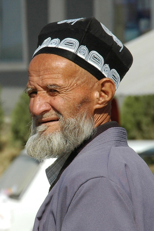 Old Tajik Man with Hat - Dushanbe, Tajikistan