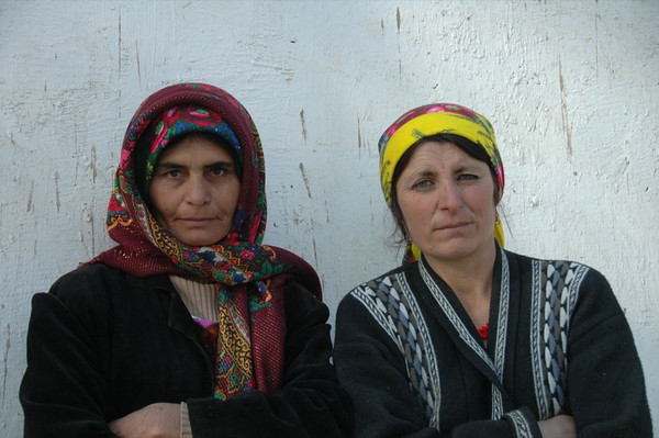 Focused Women at Market - Ishkashim, Tajikistan