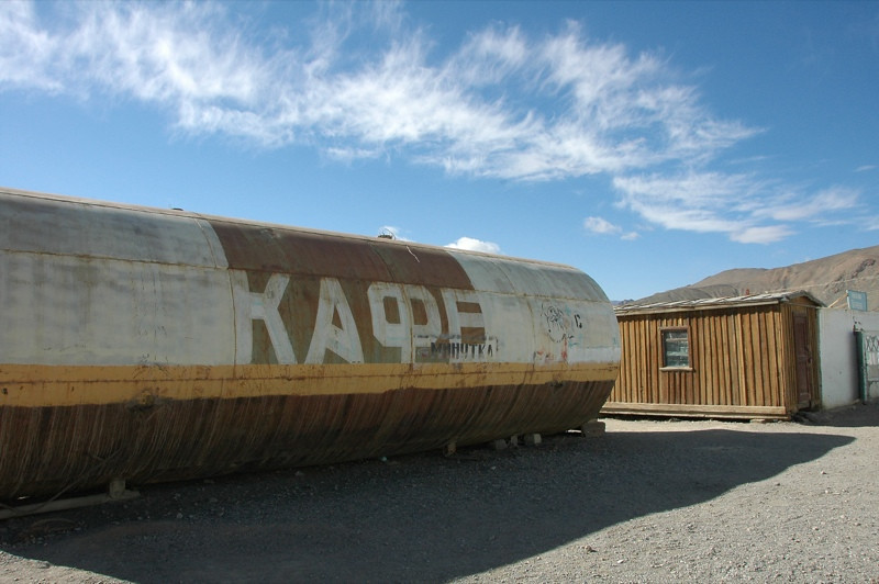 Funky Soviet Cafe in Murghab - Pamir Mountains, Tajikistan