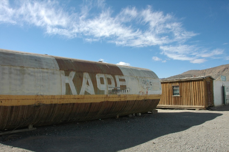 Funky Soviet Cafe in Murghab - Pamir Mountains, Tajikistan