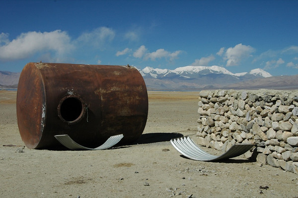 Rusted Container in Pamir Mountains, Tajikistan