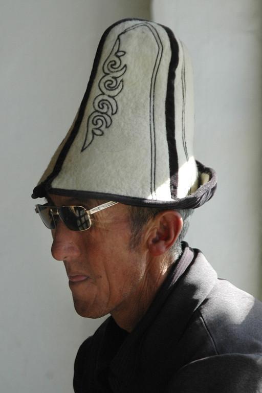 Kyrgyz Man in a Kalpak - Murghab, Tajikistan