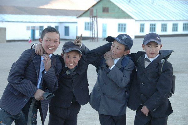 Kyrgyz Boys After School Fun - Murghab, Tajikistan