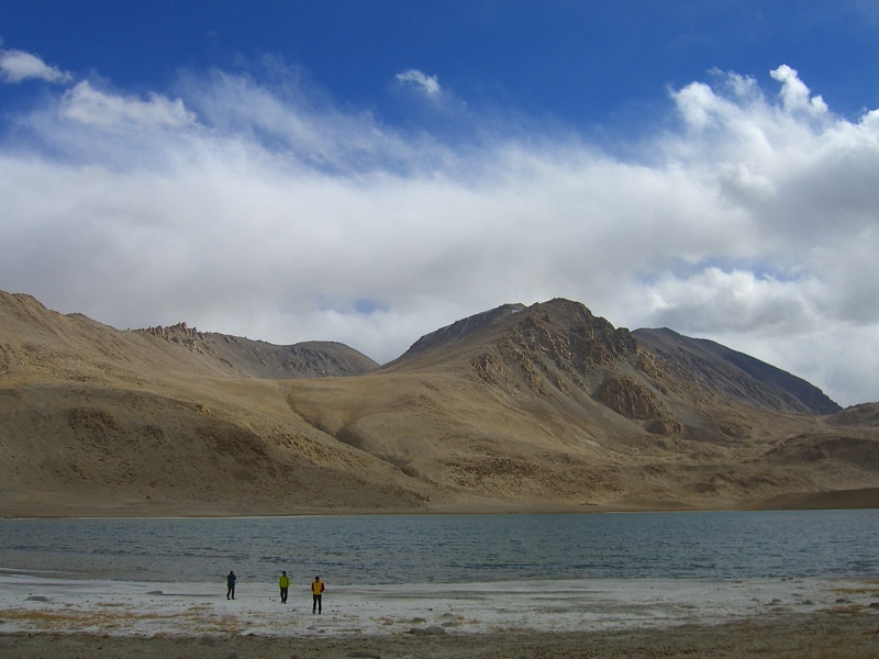 Salty Lake in Pamir Mountains - Murghab, Tajikistan
