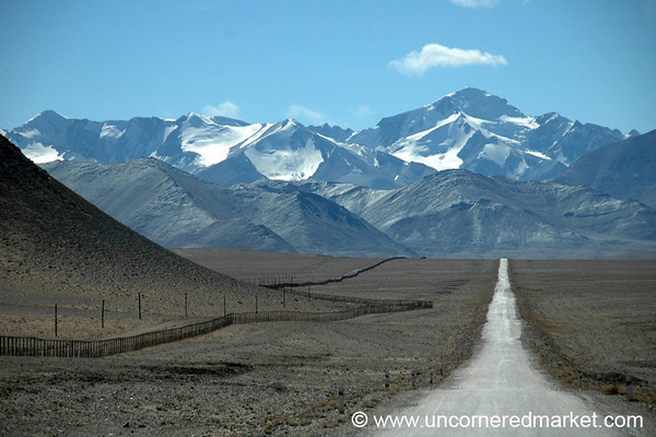 View of China from Pamir Highway, Tajikistan