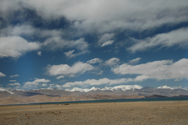 Clouds in the Pamir Mountains - Karakol Lake, Tajikistan
