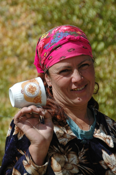 Pamiri Woman With Cup - Vrang, Tajikistan