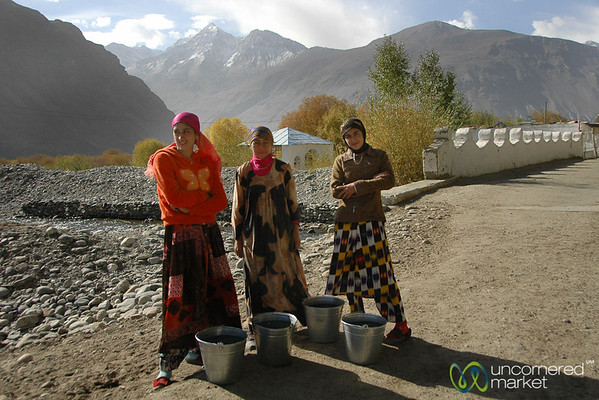 Pamiri Women with Buckets of Water - Pamir Mountains, Tajikistan