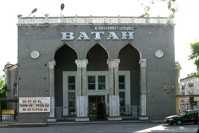 DUSHANBE, TAJIKISTAN - MAY, 2004: Movie cinema in the center of the capital(Photo by Christopher Herwig)