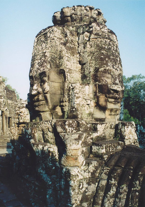 At Bayon temple, Angkor