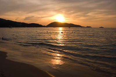 Patong beach at sunset