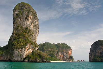 Arriving at Railay beach, Krabi
