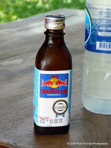 My first Thai Red Bull.  Tasted like strong cordial, and was not carbonated.
