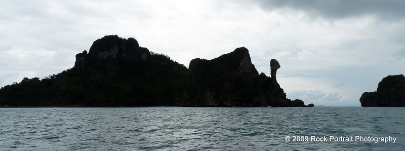 Unusual rock formation on this island