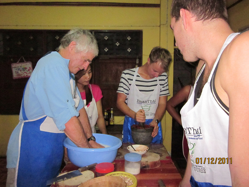 Learning how to cook Thai Food
