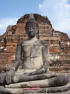 Buddha Wat Mahathat, Ayuthaya - Thailand.