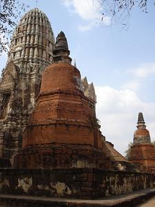 Chedis And Prang Wat Ratchaburana, Ayuthaya - Thailand.
