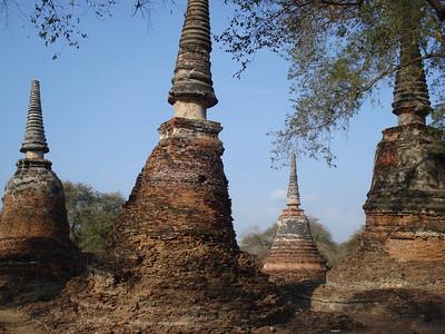 Wat Phra Si Sanphet Ruined Chedi, Ayuthaya - Thailand.